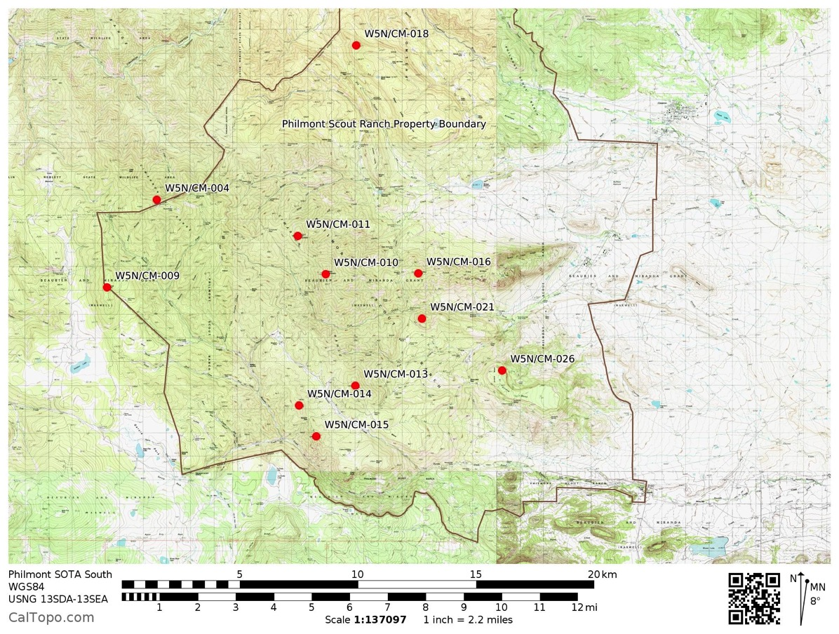 Philmont New Mexico Map.Sota At Philmont Most Casual Observer