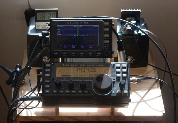 KX3 station with speakers