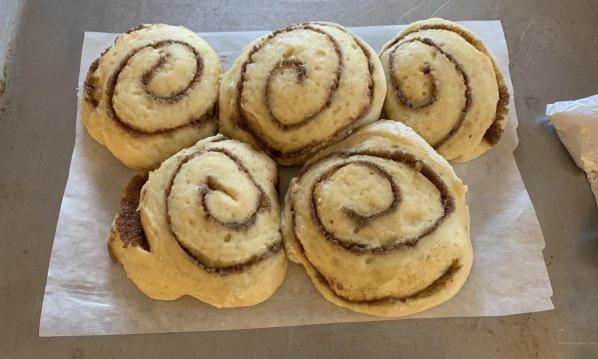 Bread dough cinnamon rolls