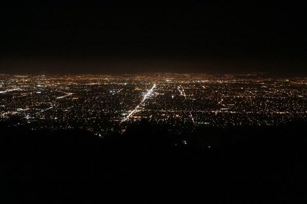 Backpacking black mountain night