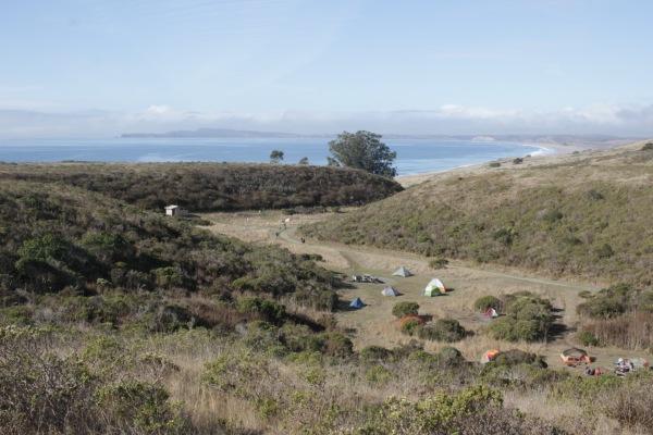 Backpacking coast camp 1